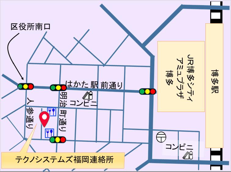 福岡事業所マップ